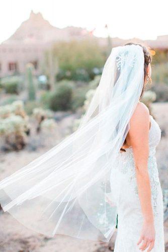 Simple Waltz Length Veil #simpleweddingveils #modernweddingveils