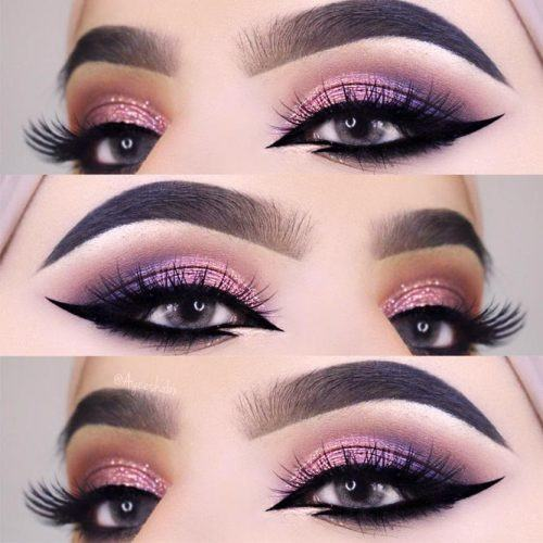 Smokey Eyes With Bold Arabian Eyeliner #blackeyeliner