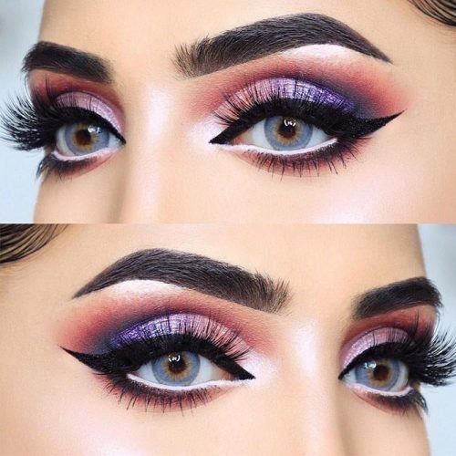 Pink And Purple Smokey Eyes Makeup #smokeyeyes