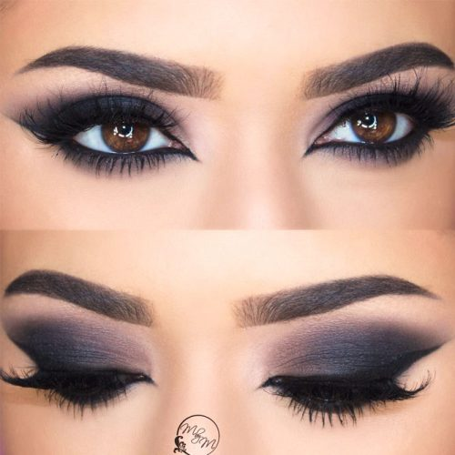 Black Smokey For Almond Eyes #blacksmokey #matteshadow