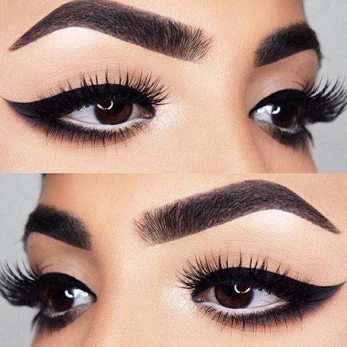 Bold Eyeliner Eyes Makeup #boldeyeliner #smudgeeyeliner
