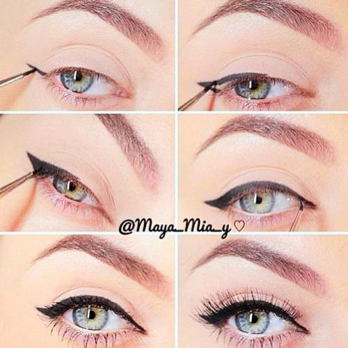 Cat Eyeliner Tutorial #cateyeliner #cateyes