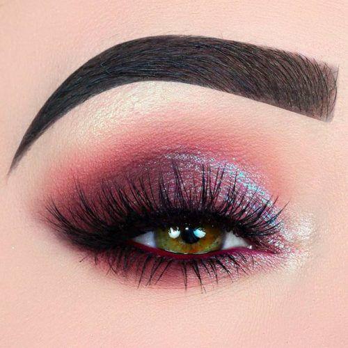 Glitter Shadow For Purple Smokey Makeup #purplesmokey
