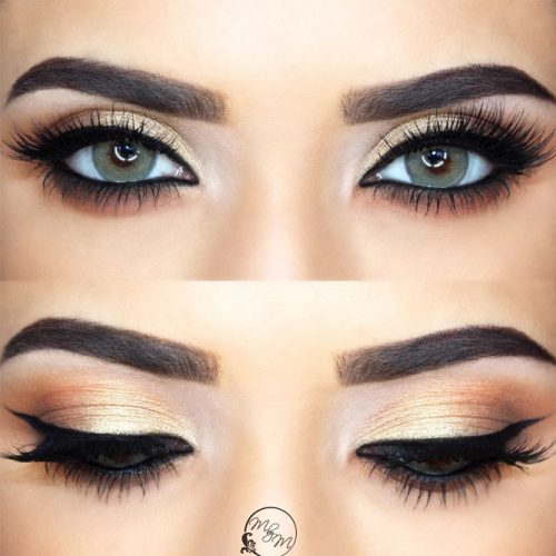 Simple Makeup For Almond Eyes With Eyeliner #classicline #nudeshadow
