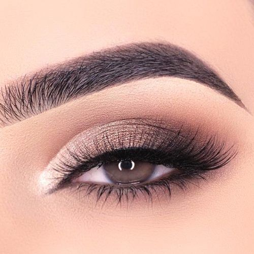 Gold And Gray Smokey Eyes Makeup #smokeyeyes