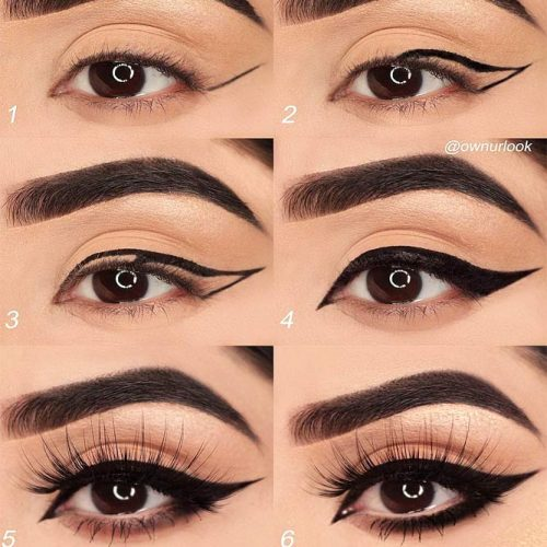 Drama Eyeliner Tutorial #eyelinertutorial #stepbystep