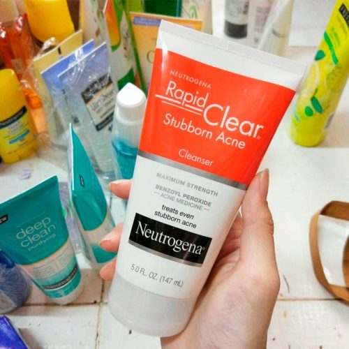 Neutrogena Rapid Clear Stubborn Acne Cleanser For Severely Acne-Prone Skin #facecare #facecleanser