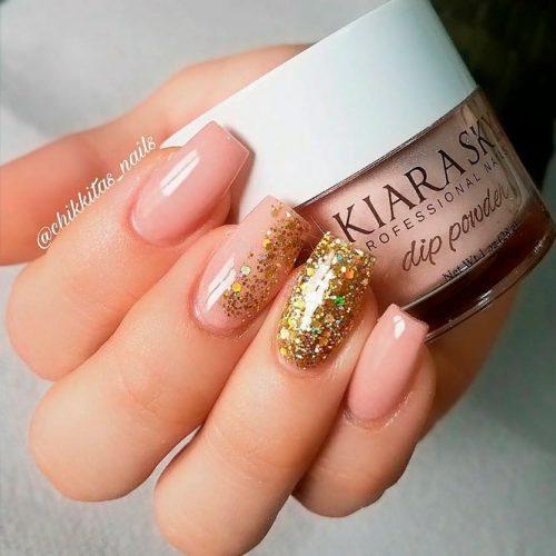 Powder Nails #artificialnails #naildesigns