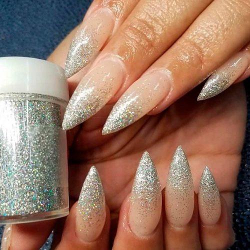 Glitter Ombre Nails #ombrenails #glitternails #longnails