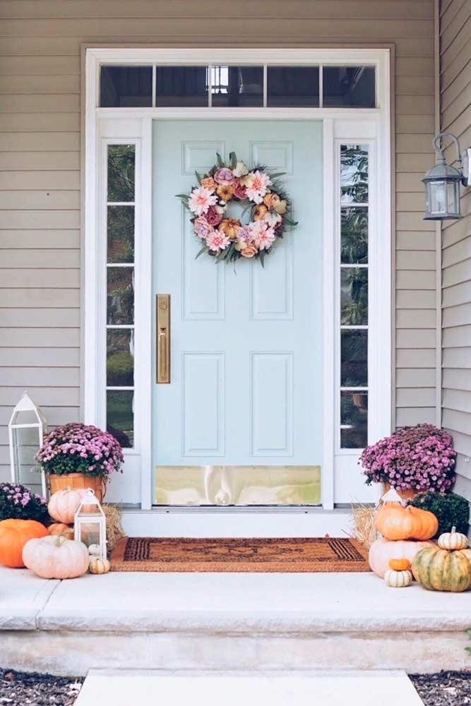 Alternate Flowers And Gourds #falloutdoor #outdoordecoration