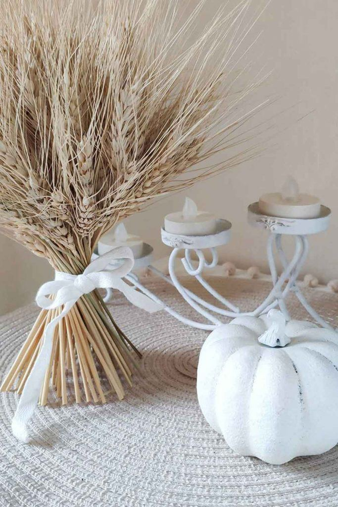 White Pumpkin Candle Holder