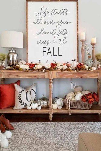 Seasonal Gourds For Home Decoration #pumpkinshomedecor #seasonalhomedecor