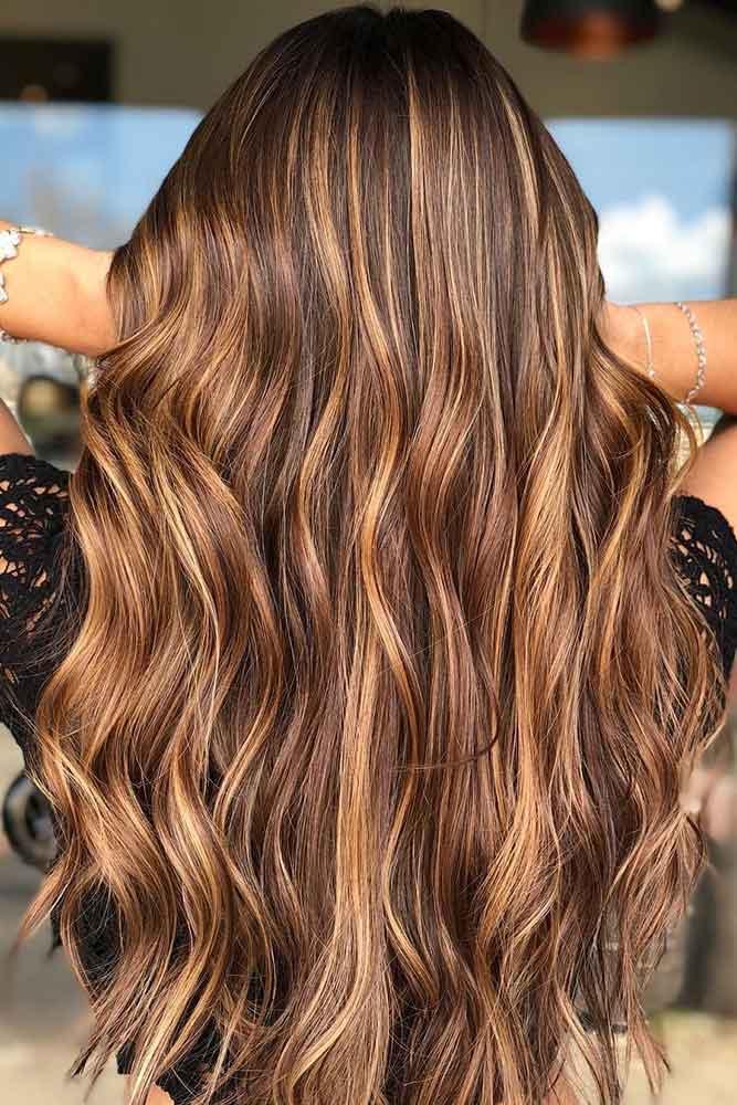 Balayage Idea For Brunettes #bruennte #brownhair #highlights #balayage