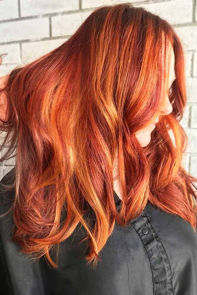 Red Hair With Copper Highlights #redhair #highlights