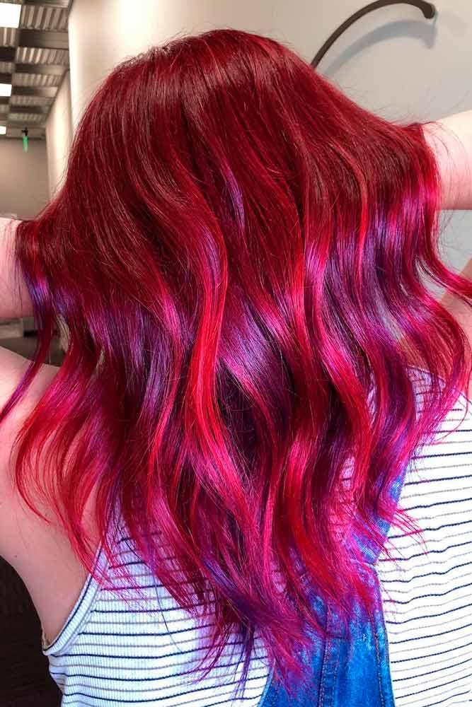 Merlot Red Hair Color #redhair #coloredhair