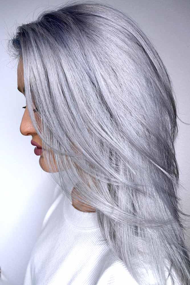 Silver Metallic #blondehair