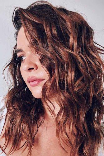 Warmed-Up Brunette #brunettehair #hairhighlights