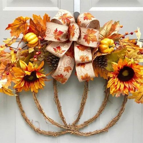 Fall Wreath Design For Fall Decor #fallwreath