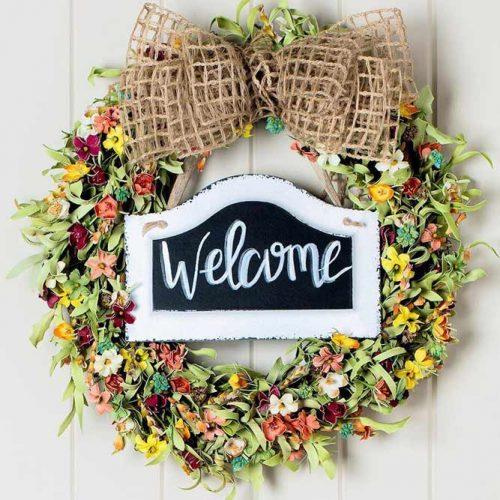 Summer DIY Wildflower Wreath #wildflowers #welcome
