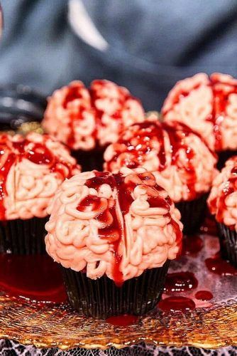 Blood Brain Cupcake Idea #braincupcake