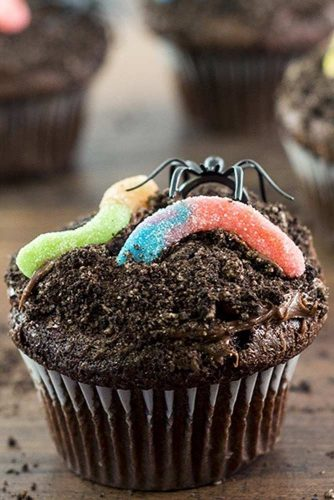 Dirt Cupcakes #spidertopper