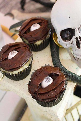 Eyeball Halloween Cupcakes #eyeballcupcake