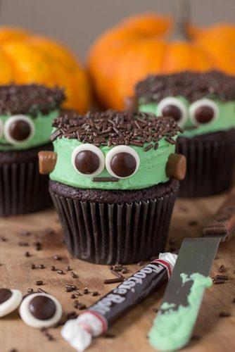 Frankenstein Cupcakes #monster