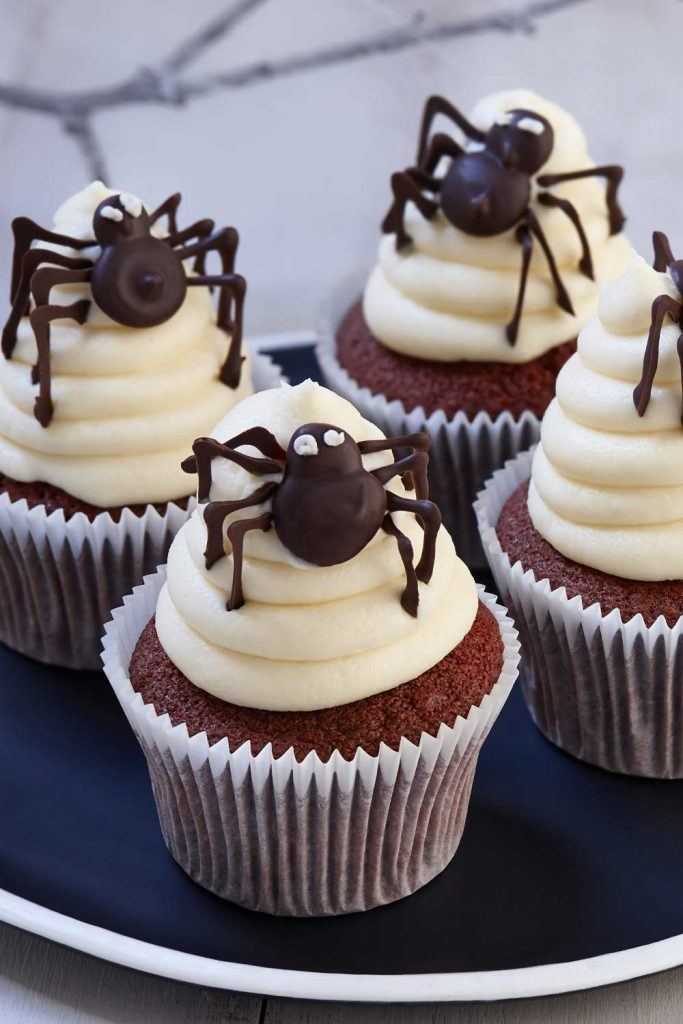 Cupcakes with Spiders