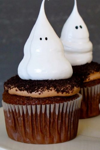 Ghost Meringue Cupcakes #ghost #party