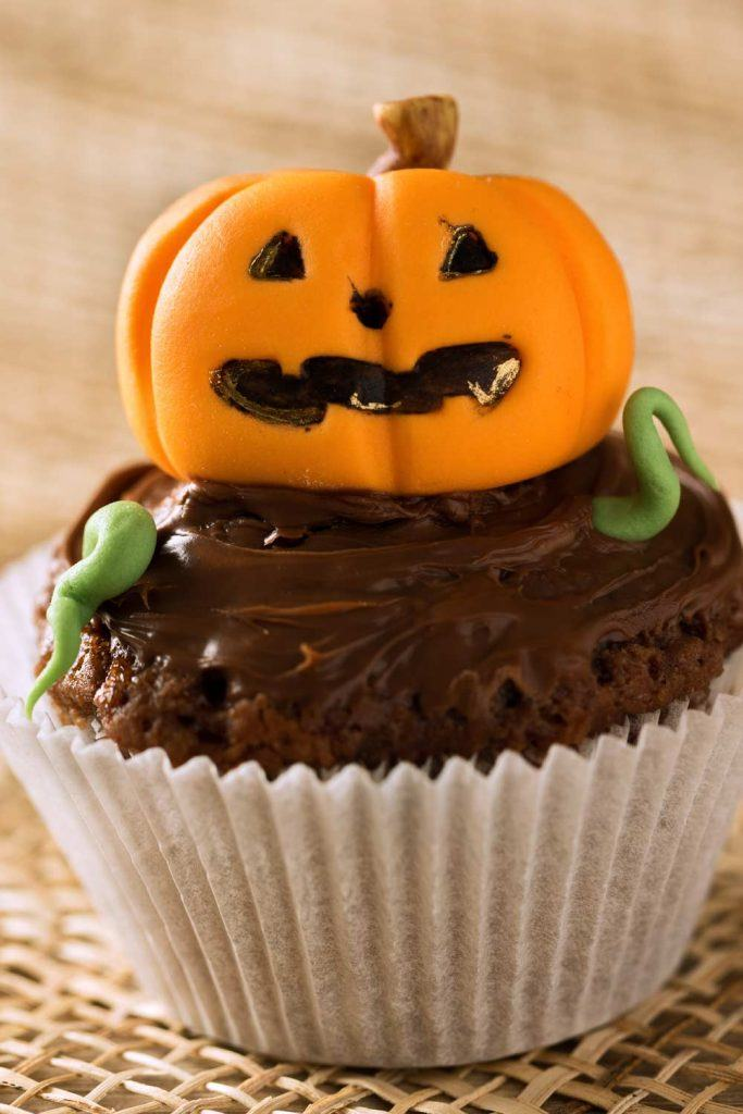 Pumpkin Chocolate Cupcake