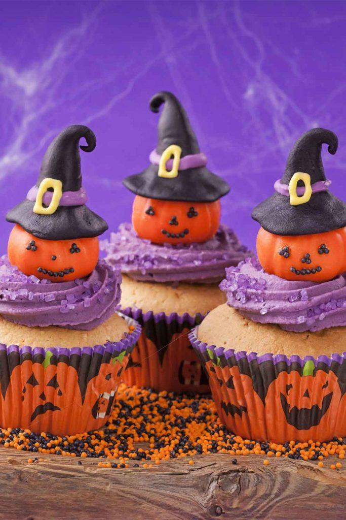 Pumpkins on Cupcakes