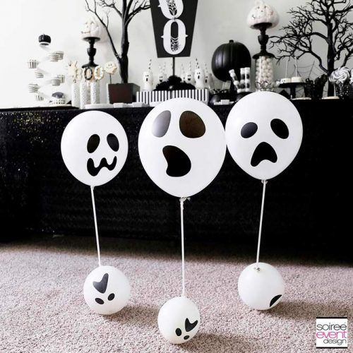 Black And White Themed Party #balloons #blackwhiteparty