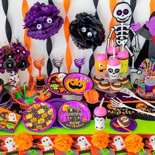 Bright Halloween Décor For Kids Party #decor #party #halloween