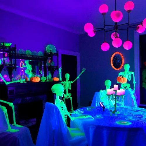 Luminescence Party Of Skeletons #luminesesce #modernpartydecor