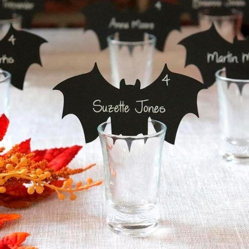 Little Bat Table Cards #tablecards #party #halloween