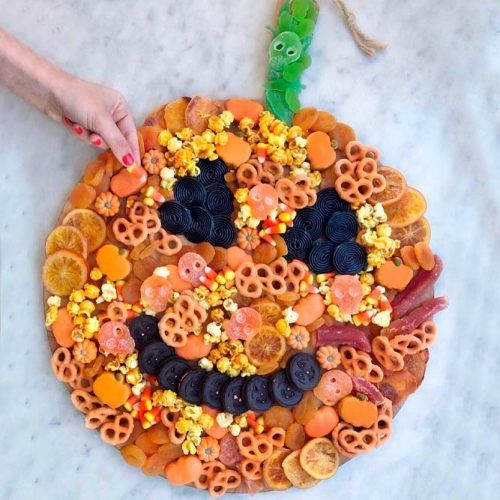Trick Or Treat Yourself Food Board  #halloween #partyfood