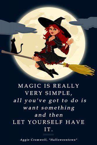 Magic is really very simple, all you've got to do is want something and then let yourself have it. #happyhalloween #halloween