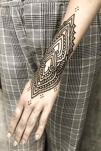 Mandala Tattoo Design For Arm #armtattoo