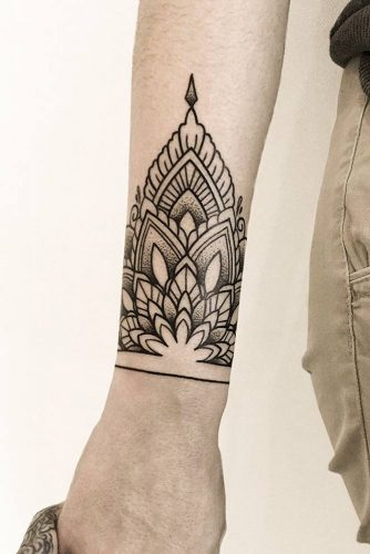 Arm Tattoo Design With Mandala Patterns #armtattoo #wristtattoo