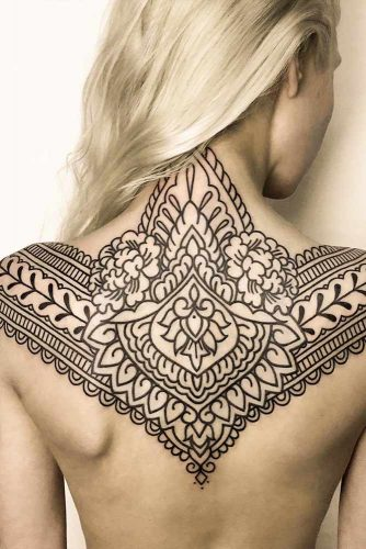 Back Mandala Tattoo Design #backtattoo