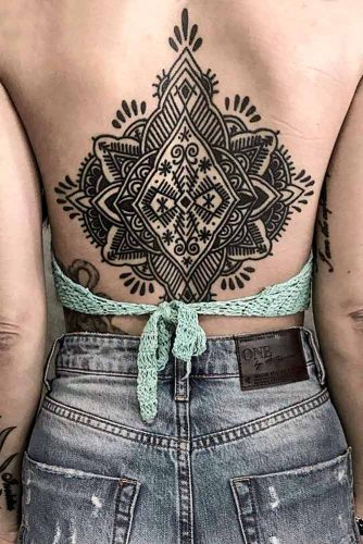 Ornamental Mandala Tattoo Idea #backtattoo