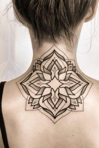 Floral Mandala Tattoo Design #backtattoo