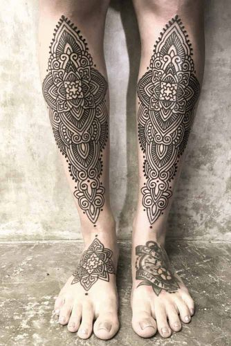 Mandala Tattoo Design #legtattoo
