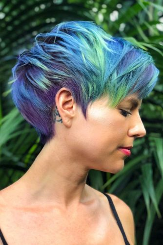 Sea Waves Hair Color For Short Hair #bluehair