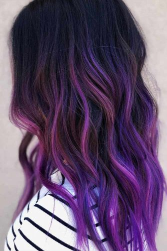Long Mermaid Hair With Purple Shades #purplehair #longhair