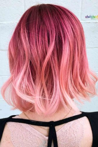 Soft Pink Waves #pinkhair #ombrehair