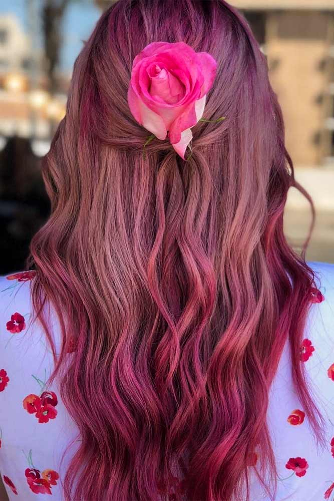 Purple Hair Color With Ombre #pinkhair #purplehair
