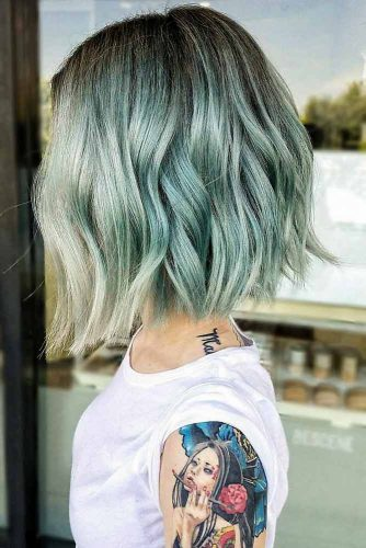 Pastel Aqua Waves #pastelhair
