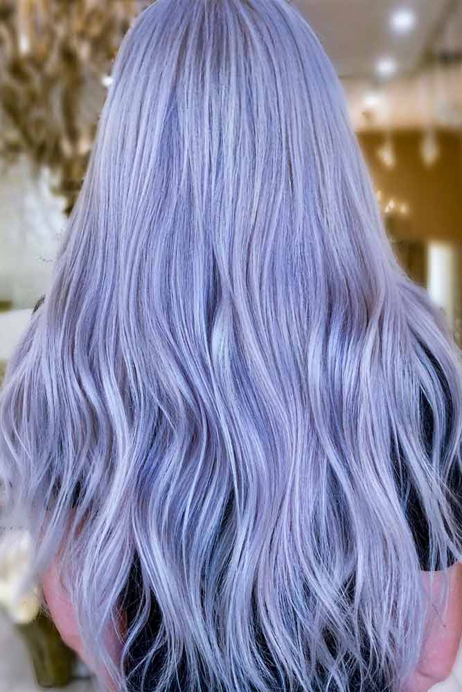 Pastel Purple Long Hair Style #purplehair #purplehaircolor #pastelhair