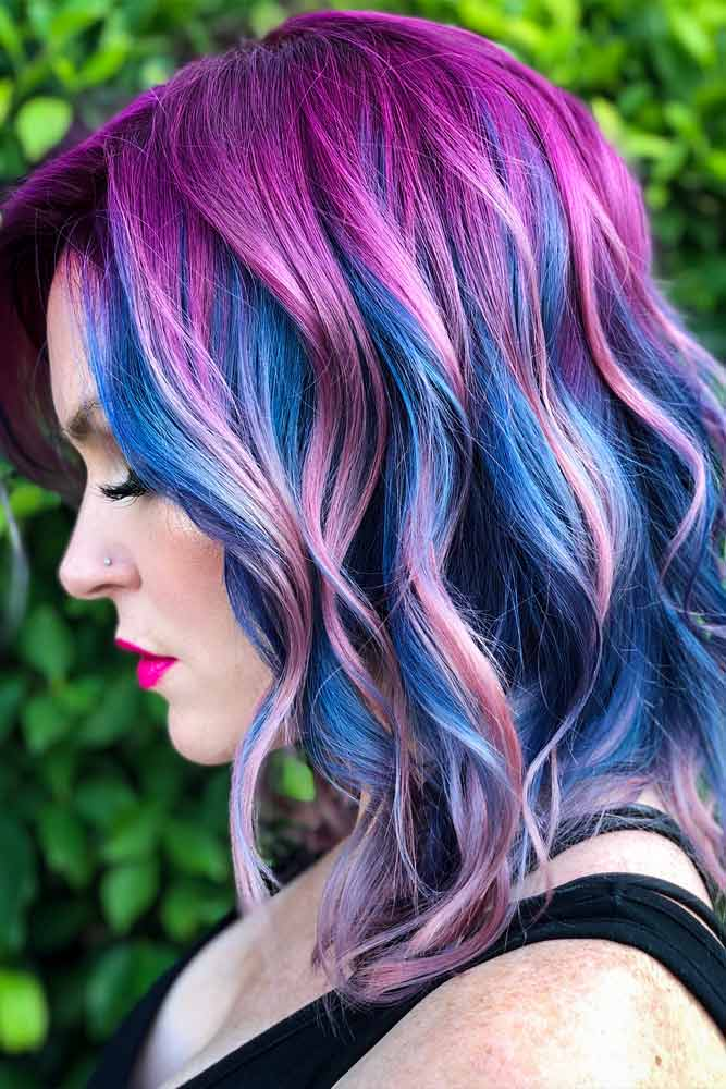 Purple Depths For Medium Hair #purplehair #bluehair #ombrehair